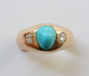turquoise gypsy ring