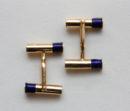 gold and enamel cufflinks