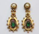 gems set fly earrings