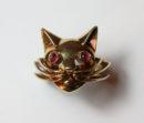 gold cat ring
