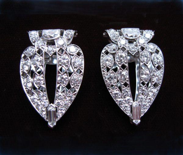 diamond double clips