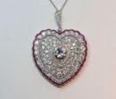 diamond and ruby heart pendant