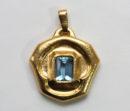 aquamarine and gold pendant a c