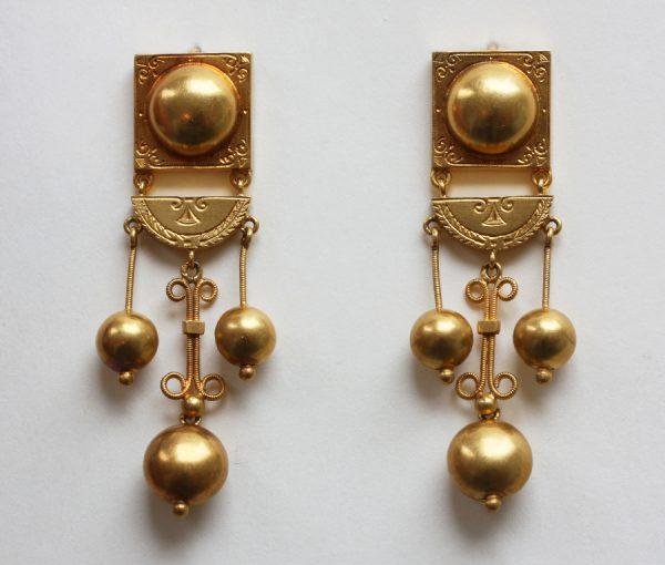 neo etruscan gold earrings